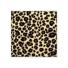 "Leopard Print Square Sticker 3"" x 3"""
