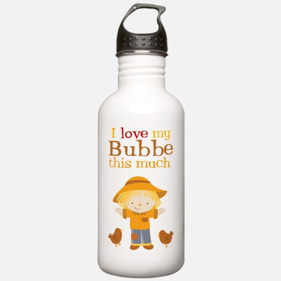 Scarecrow I Love Bubbe Water Bottle