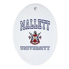 MALLETT University Oval Ornament