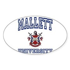 MALLETT University Oval Decal