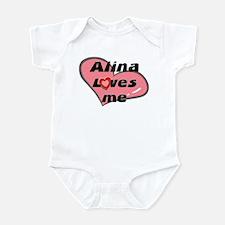 alina loves me  Infant Bodysuit