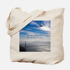 SF_10X8_Puzzle_EndeavourOverGoldenGateBri Tote Bag