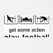 Play football Aluminum License Plate