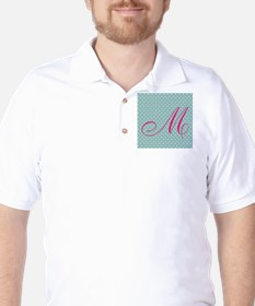 Personalizable Initial Mint and Pink T-Shirt