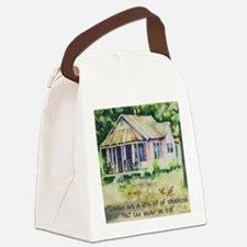 Cousin quote - a little bit of ch Canvas Lunch Bag