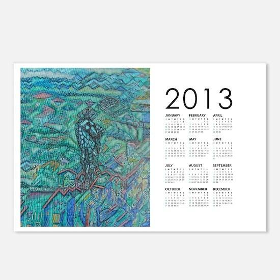 2013 Jade Steed Calendar Postcards (Package of 8)