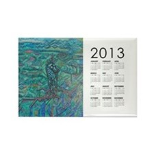 2013 Jade Steed Calendar Rectangle Magnet