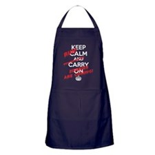 Keep Calm Zombies are Coming Apron (dark)