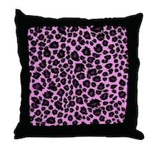Purple Leopard Print Throw Pillow