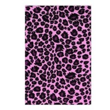 Purple Leopard Print Postcards (Package of 8)