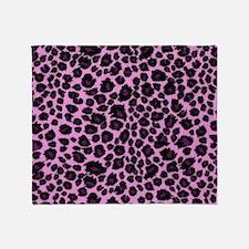 Purple Leopard Print Throw Blanket