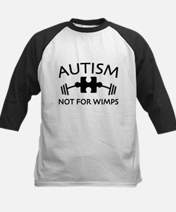 Autism Not For Wimps Baseball Jersey