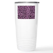 Purple Leopard Print Travel Mug