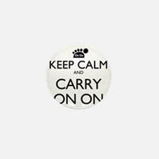 Keep Calm And Carry On On Mini Button
