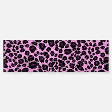 Purple Leopard Print Sticker (Bumper)