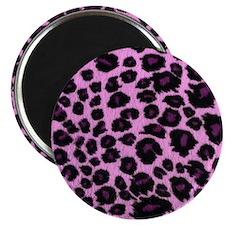 Purple Leopard Print Magnet