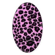 Purple Leopard Print Decal