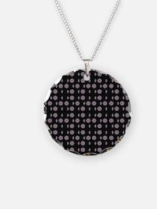 Black Gray Shapes Designer Necklace