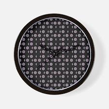 Black Gray Shapes Designer Wall Clock