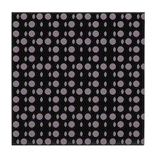 Black Gray Shapes Designer Tile Coaster