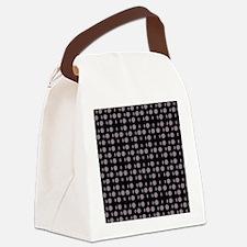 Black Gray Shapes Designer Canvas Lunch Bag
