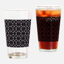 Black Gray Shapes Designer Drinking Glass
