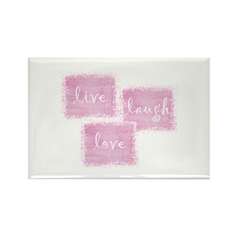 live, laugh, love Rectangle Magnet (100 pack)