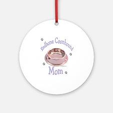 Coonhound Mom Ornament (Round)