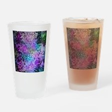 Disco Mirrors in Purple and Green Drinking Glass