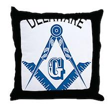 Delaware Freemason Throw Pillow