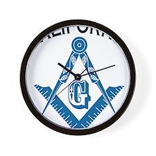 California Freemason Wall Clock