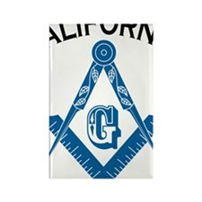California Freemason Rectangle Magnet