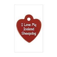 Love My Sheepdog Rectangle Decal