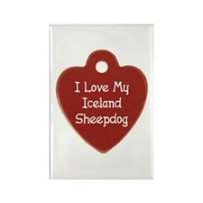 Love My Sheepdog Rectangle Magnet