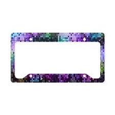Disco Mirrors in Purple and G License Plate Holder