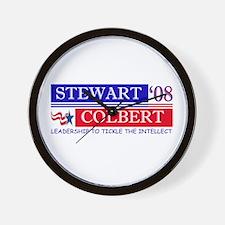stewart colbert tickle intellect Wall Clock