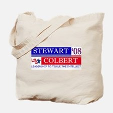 stewart colbert tickle intellect Tote Bag