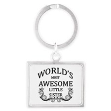 World's Most Awesome Little Sister Landscape Keych