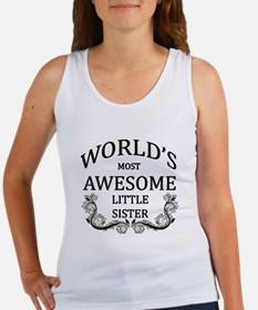 World's Most Awesome Little Sister Women's Tank To