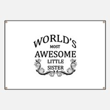 World's Most Awesome Little Sister Banner