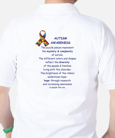 2 Sided Autism Golf Shirt