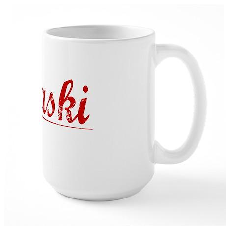 Pulaski, Vintage Red Large Mug