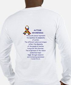 2 Sided Autism Long Sleeve T-Shirt