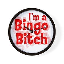 Bingo Bitch Wall Clock
