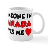 Canada love Small Mugs (11 oz)