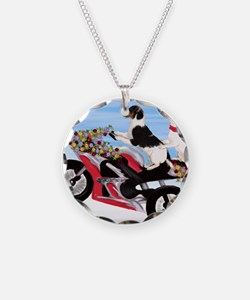 Jack Russell Terriers on a M Necklace