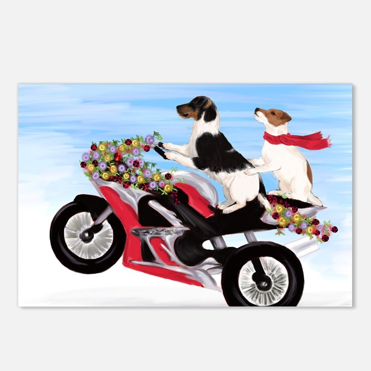 Jack Russell Terriers on  Postcards (Package of 8)