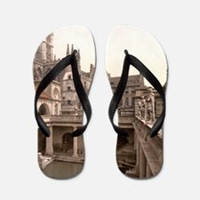 Vintage Roman Baths and Abbey Flip Flops