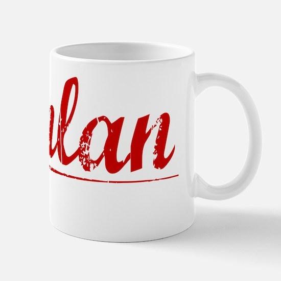 Quinlan, Vintage Red Mug