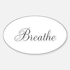 Breathe Black Script Decal